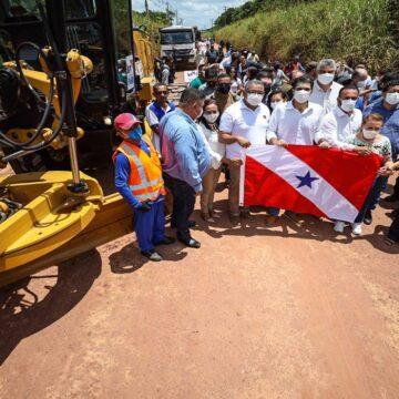 Governo do Pará garante asfalto na PA-424, em Igarapé-Açu